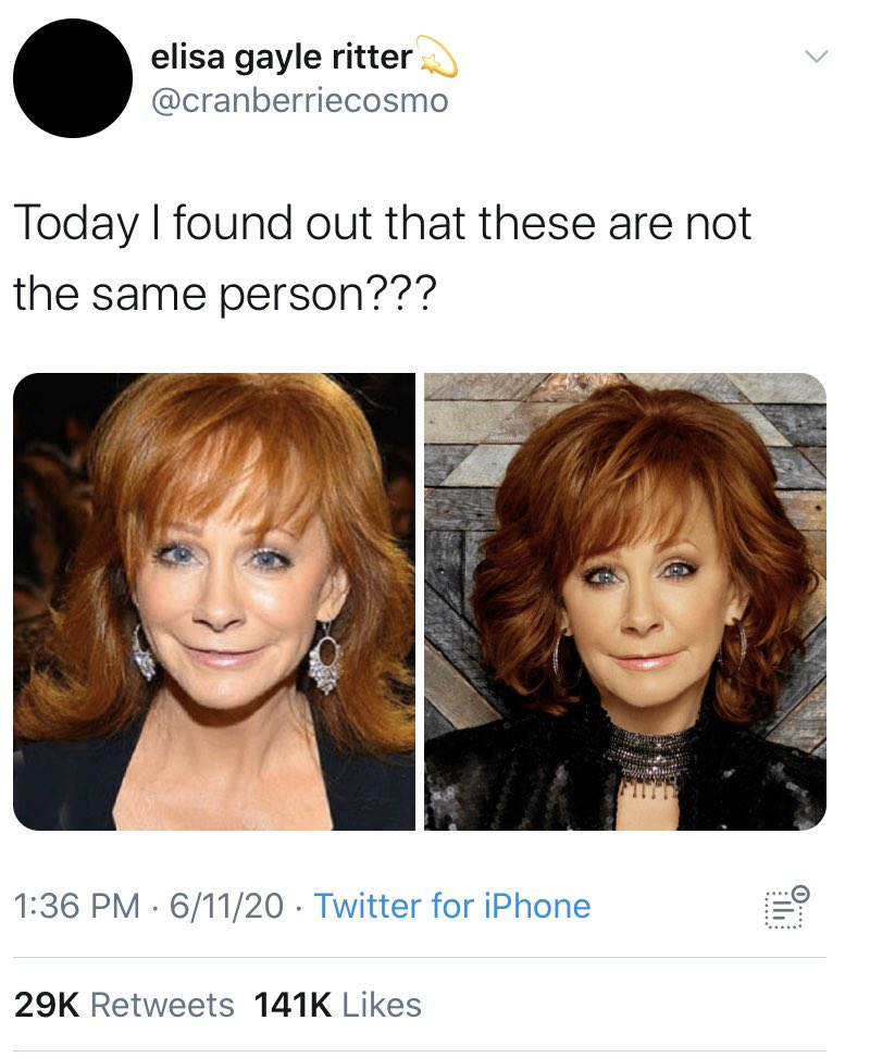 """Hidden Cash on Twitter: """"OK, this is legitimately the craziest thing I've  seen in a long time. Not only is that NOT @reba McEntire, it's a woman  named Elisa Gayle Ritter, and"""